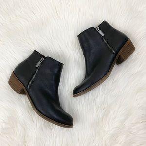 Kensie Ghita Black Zipper Ankle Booties